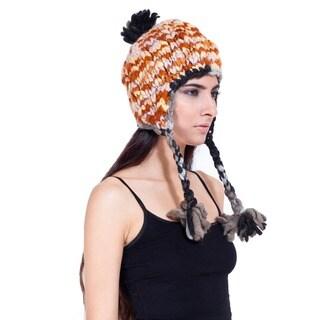 Wool Colorful Fleece-lined Earflap Hat (Nepal)