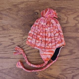 Wool Multicolor Fleece-lined Earflap Hat (Nepal)