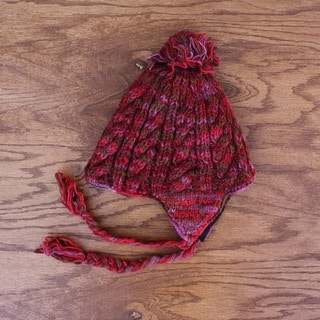 Wool Multicolor Fleece-lined Earflap Hat (Nepal)