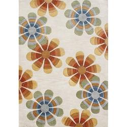 Alliyah Handmade Beige New Zealand Blend Wool Rug - 5' x 8' - Thumbnail 0