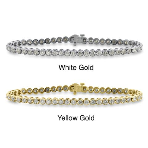 Auriya 3 carat TW Round Diamond Tennis Bracelet 14k Gold