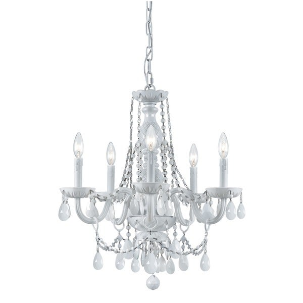 Crystorama Envogue Collection 6-light White/ Crystal Chandelier