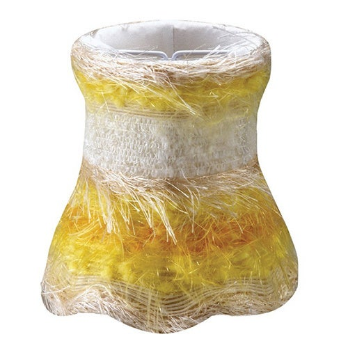 Crystorama Yellow Silk Mini Shades (Set of 4)