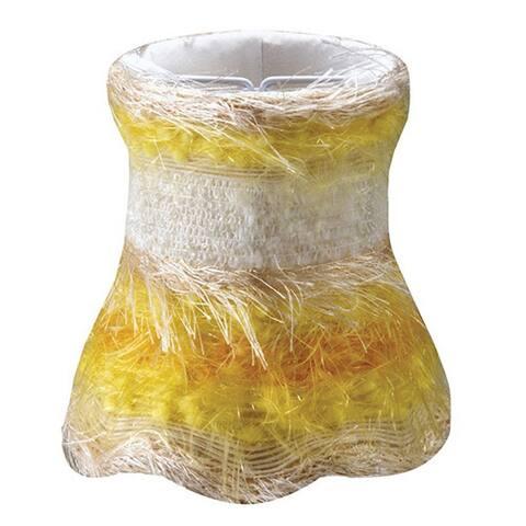 Crystorama Yellow Silk Mini Shades (Set of 4)