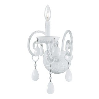 Crystorama Envogue Collection 1-light White/ Crystal Wall Sconce