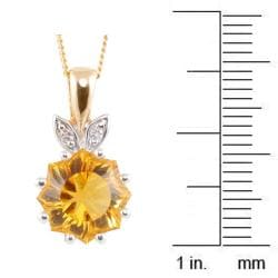 Michael Valitutti 14k Two-tone Gold Citrine and Diamond Accent Necklace - Thumbnail 2
