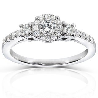 Annello by Kobelli 14k White Gold 1/2ct TDW Diamond Engagement Ring