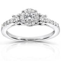 Annello by Kobelli 14k White Gold 1/2ct TDW Diamond Engagement Ring