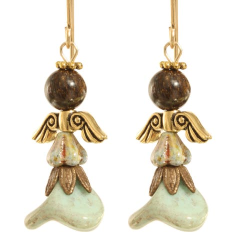 Gold Fill 'Kutiel' Angel Earrings