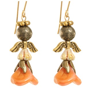 'Shekinah' Angel 14k Gold Fill Earrings