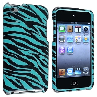 INSTEN Blue Zebra Protective iPod Case Cover for Apple iPod Touch 4th Generation