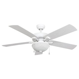 EcoSure Wharfside White Globe 52-inch Ceiling Fan and Remote Control