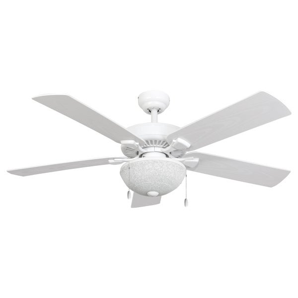 EcoSure Wharfside White Globe 52-Inch Ceiling Fan