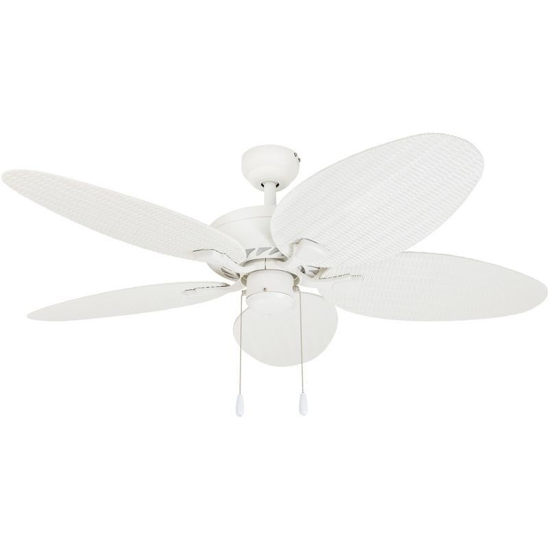 EcoSure Siesta Key White 52-inch Tropical Ceiling Fan With