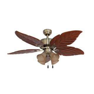 EcoSure St. Andrews 4-light Aged Brass 52-inch Ceiling Fan and Remote Control