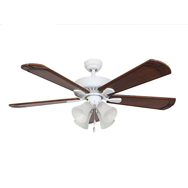 EcoSure St. Francis 4-light White 52-inch Ceiling Fan