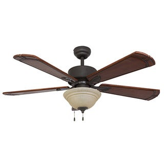 EcoSure Rumson Bowl Light/Bronze 52-inch Ceiling Fan