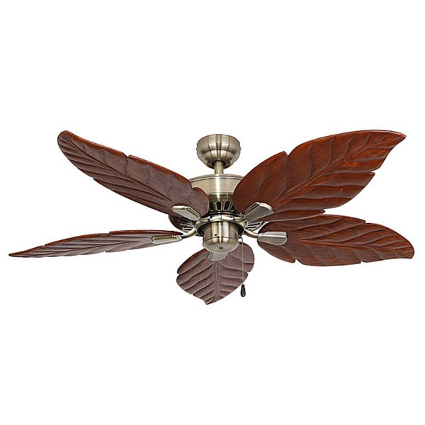 14 Ceiling Fans That Don T Look Terrible: Shop EcoSure Aruba Aged Brass 52-inch Ceiling Fan