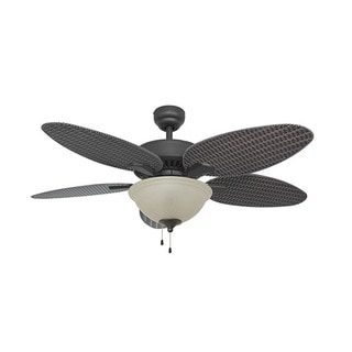 Link to EcoSure Siesta Key Bowl Light Bronze 52-inch Ceiling Fan with Wicker Blades and Remote Control Similar Items in Ceiling Fans
