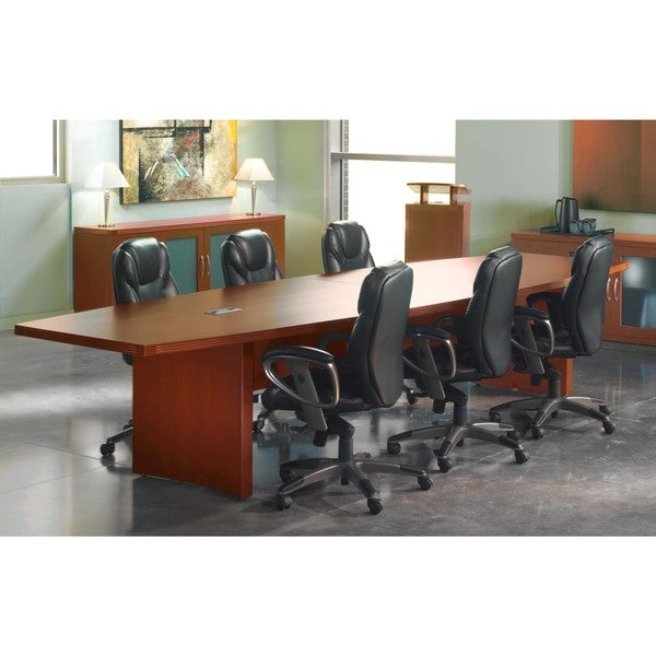 Mayline aberdeen 10 foot boat shaped conference table for 10 foot conference table