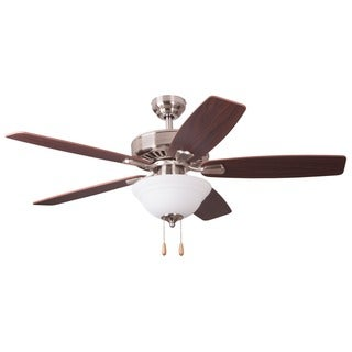 EcoSure Fair Haven Bowl Light Brushed Nickel 52-inch Ceiling Fan and Remote Control