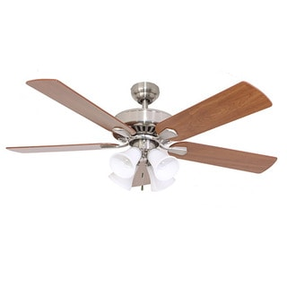 EcoSure Fair Haven 4-light Brushed Nickel 52-inch Ceiling Fan and Remote Control - Brushed nickel