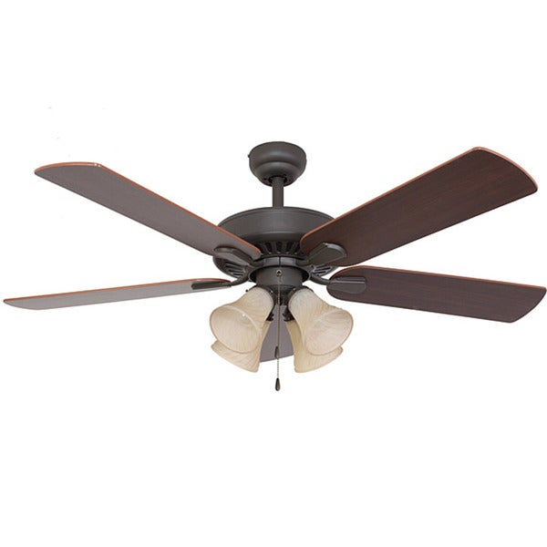 EcoSure Fair Haven 4-light Bronze 52-inch Ceiling Fan and Remote Control
