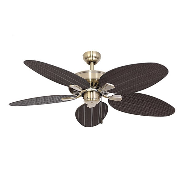 EcoSure Siesta Key Aged Brass 52-inch Ceiling Fan and Remote Control