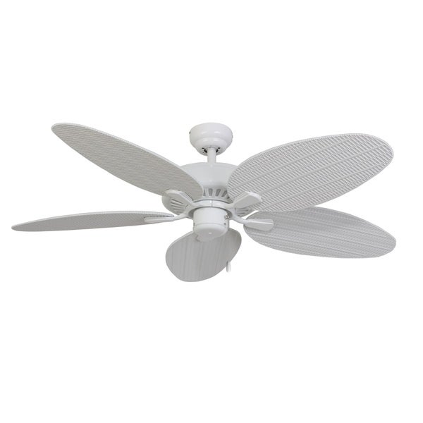 EcoSure Siesta Key White 52-inch 5-blade Ceiling Fan