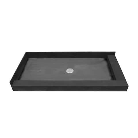 Redi Base 37 x 60 Shower Pan Center Drain Right Dual Curb
