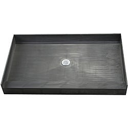 Redi Base 42 x 48 Single Curb Shower Pan With Center Drain