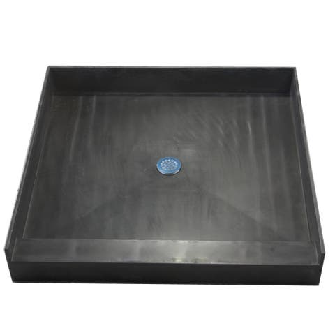 Redi Base 48 x 48 Single Curb Shower Pan With Center Drain
