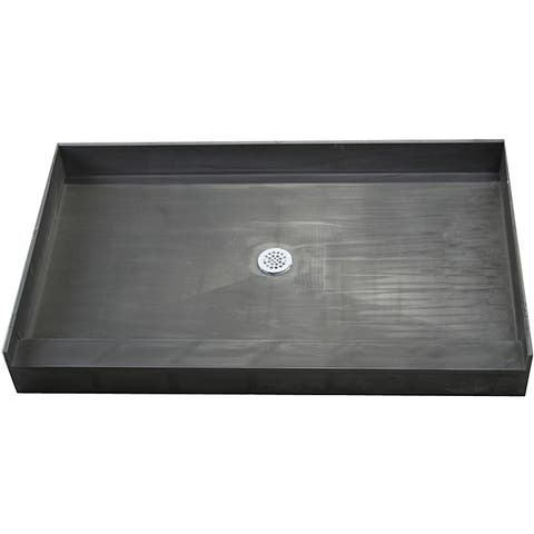 Redi Base 42 x 60 Single Curb Shower Pan With Center Drain