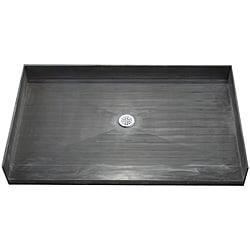Tile Ready Shower Pan 38 x 42 Center Barrier Free PVC Drain