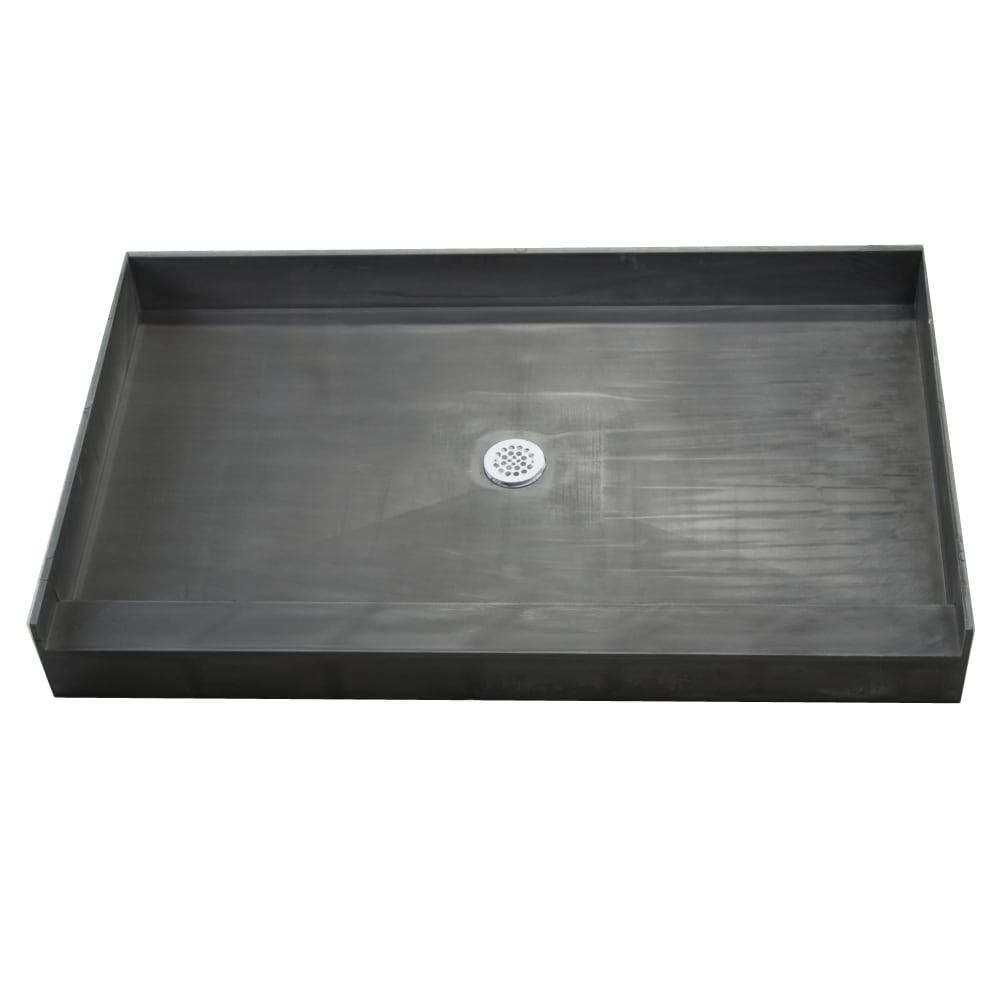 Tile Ready Shower Pan 42x42-inch Center PVC Drain