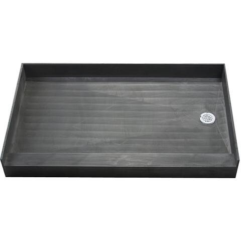 Redi Base 37 x 60 Single Curb Shower Pan With Right Drain