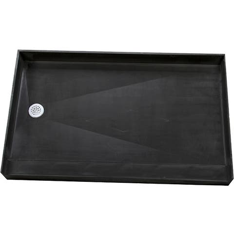 Redi Base 37 x 60 Single Curb Shower Pan With Left Drain