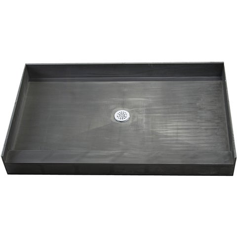 Redi Base 37 x 60 Single Curb Shower Pan With Center Drain