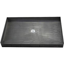 Tile Ready Shower Pan 37x60-inch Center PVC Drain