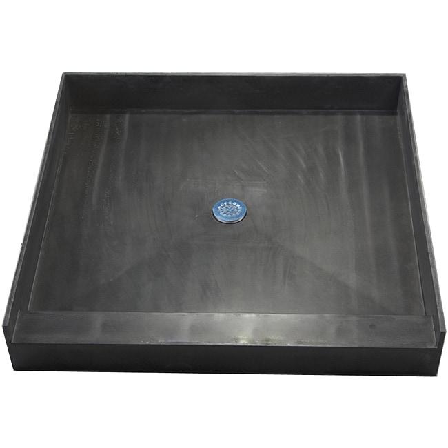 Tile Ready Shower Pan 36 x 36 Center PVC Drain