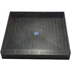 Redi Base 36 x 36 Single Curb Shower Pan With Center Drain