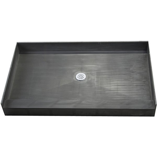 Redi Base 34 x 48 Single Curb Shower Pan With Center Drain