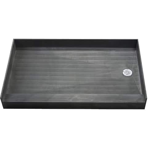 Redi Base 30 x 60 Single Curb Shower Pan With Right Drain