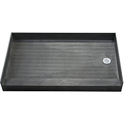 Tile Ready Shower Pan 30 x 60 Right PVC Drain