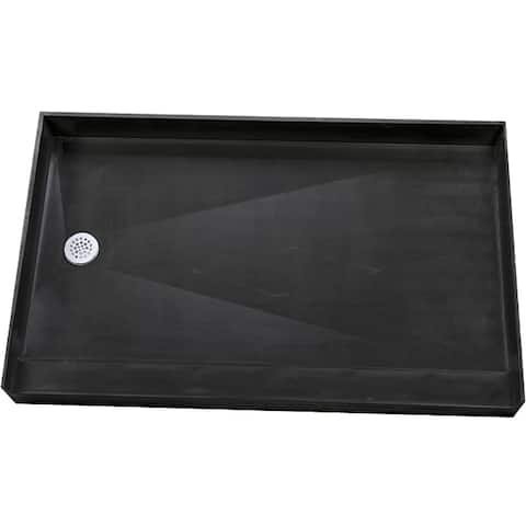 Redi Base 30 x 60 Single Curb Shower Pan With Left Drain