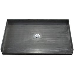Tile Ready Shower Pan 30 x 60 Center Barrier Free PVC Drain