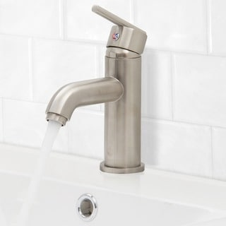 VIGO Setai Bathroom Single Hole Faucet in PVD Brushed Nickel