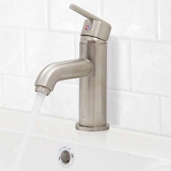 VIGO Setai Single Handle Bathroom Faucet In Brushed Nickel