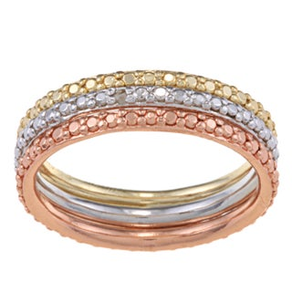 DB Designs Diamond Accent 3-Piece Stackable Ring Set (Set of 3) (More options available)