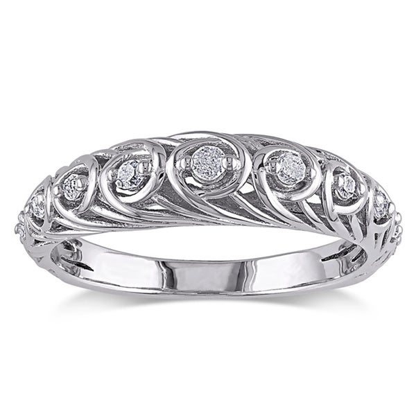 Catherine Catherine Malandrino Sterling Silver 1/5ct TDW Diamond Ring